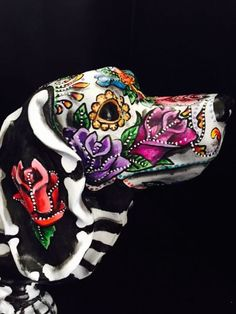 Sugar Skull Day Of The Dead Dotson Dachshund Large Dog Figurine Art Doxie 16