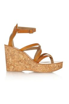 K Jacques St Tropez Cunegonde leather wedge sandals | NET-A-PORTER
