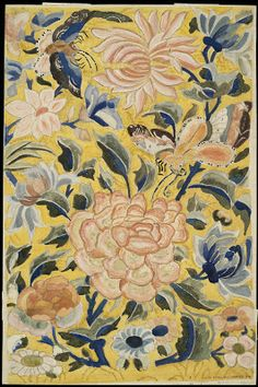 Lois Mailou Jones - Watercolor copy after a Han-Chinese embroidery (1924)