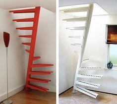 escalier en sifflet compressible