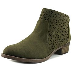 Carlos By Carlos Santana Brett Women Round Toe Canvas Ankle Boot (945 UAH) ❤ liked on Polyvore featuring shoes, boots, ankle booties, ankle boots, green, short heel booties, green boots, carlos by carlos santana boots, round toe booties and carlos by carlos santana booties