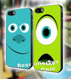 Monsters University James Sullivan Mike Wazowski Couple iPhone 4, iPhone 4s, iPhone 5, iPhone 5s, iPhone 5c, Samsung Galaxy S3, S4 Case on Etsy, $30.00