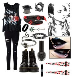 Designer Clothes, Shoes & Bags for Women Cute Emo Outfits, Pastel Goth Outfits, Scene Outfits, Punk Outfits, Gothic Outfits, Cosplay Outfits, Teen Fashion Outfits, Retro Outfits, Grunge Outfits