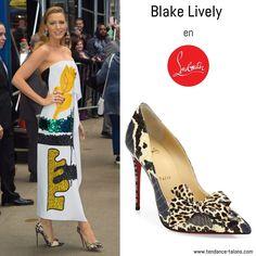 "Blake Lively en escarpins ""Madame Menodo"" signés Louboutin pour l'émission ""Good Morning America"" à New York"
