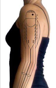 bird tattoos, charley harper tattoo, geometric tattoos, geometr tattoo