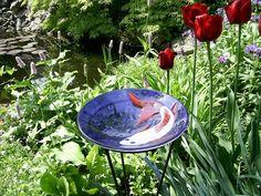GarZenKunst  Glasschale mit Koi von Glaskunst auf DaWanda.com