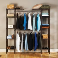 Bronze Seville Classics Expandable Closet Organizer (Seville Expandable Closet Organizer -Bronze), Brown (Metal)