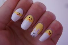 Easy Nail Designs For Kids Step By Step Cute easter nail art for kids