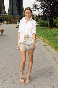Olivia Palermo, con bolso de Olivia + Joy