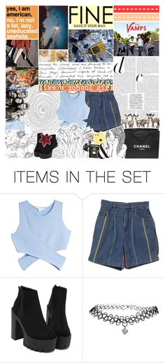 """""""LITTLE BIT GROUNDED"""" by brdfrdzen ❤ liked on Polyvore featuring art, blues5k8daychallenge, TalisLittleTag, gottatagrandomn3ss and kikitags"""