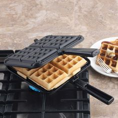 Nordic Ware Stovetop Belgian Waffler, 15040  This Belgian waffle maker bakes four deliciously-rich, thick waffles on the stove top! $59.95