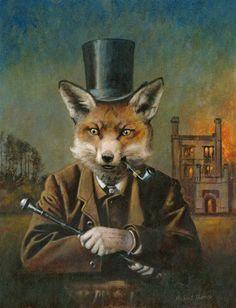 THE DAPPER FOX BY MICHAEL THOMAS - Anthropomorphic art