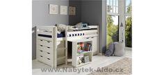 Dětská postel z masivu s úložným prostorem Pino PIHSZG14-B