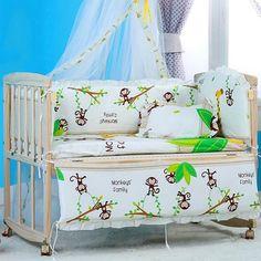 100% QualitäT 3 Stücke Set Baby Bettwäsche Set Inklusive Bettbezug Kissenbezug Bettlaken Reine Baumwolle Baby Leinen Baby Krippe Set Für Beide Mädchen Und Junge Bettwäsche-sets