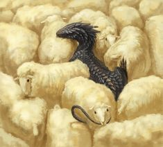 Dragon among the sheep by 赤鼻