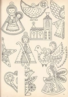 Scandinavian-style ornament embroidery pattern