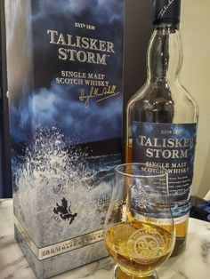 Review #3: Talisker Storm #scotch #whisky #whiskey #malt #singlemalt #Scotland #cigars