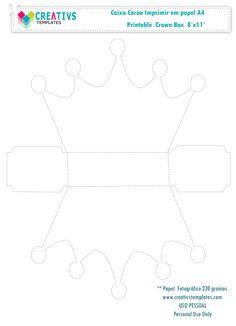Caixa Coroa de princesa Princess templates box