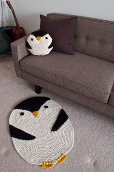 amigurumi crochet penguin pillow get them here: www.etsy.com/...