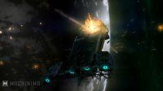 Battlestar Osiris Under Attack.