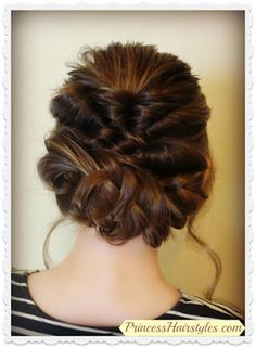 Prom or Wedding updo hair tutorial.