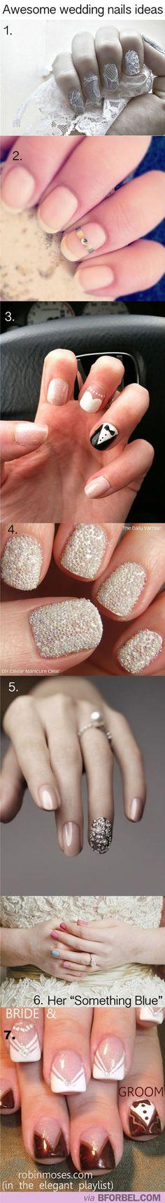 A bunch of Wedding Nails Ideas! So cute! #manicures #cuteNails