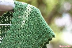 Green openwork dress with an overstated waist - All in azure ... (crochet) - Country Mom