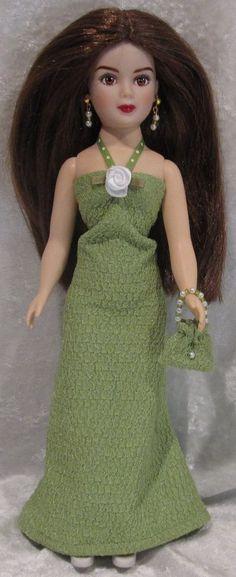 COQUETTE CISSY Jacqui Madame Alexander Doll Clothes #11 Dress, Purse, Earrings #HandmadebyESCHdesigns
