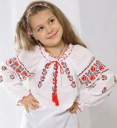 Ukraine, from Iryna Crochet Christmas Trees, Christmas Tree Pattern, Ukrainian Dress, Bless The Child, Arte Popular, Traditional Dresses, Crochet Stitches, Pattern Design, Floral Tops