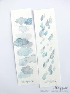 Marque pages peints à l'aquarelle, disponibles sur ma boutique A Little Market et Dawanda . * * * * * * * *...