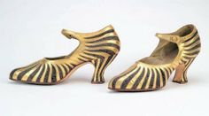 Art Deco Starburst Shoes - 1922-25 - by Th. J. de Bont (Dutch) - Bata Shoe Museum - @~ Mlle