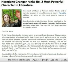 Hermione gets some recognition...oh I just love her so much!!!!
