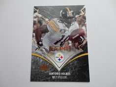 Santonio Holmes 2008 Icons Upper Deck Football Card.