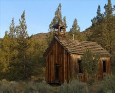 Old church located here on our reservation in Warm Springs, Oregon.