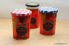 Nachgemacht: marinierte geröstete Paprika im Glas