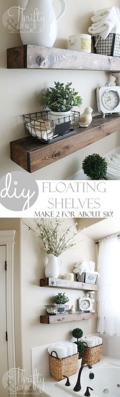 DIY Floating Shelves just like the ones from Fixer Upper! ! Very good tutorial