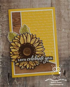 Joann Crafts, Sunflower Cards, Card Making Techniques, Stamping Up Cards, Thanksgiving Cards, Fall Cards, Pretty Cards, Diy Cards, Homemade Cards