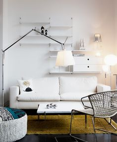 white and artemide tolomeo lamp