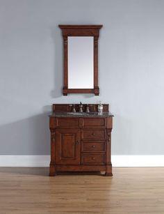 "Brookfield 36"" Single Cabinet w/ Drawers, Warm Cherry"