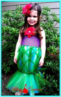 A Little Mermaid Tutu Costume Pageant Party Portrait Dress Order Now through September 30th