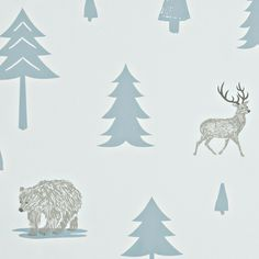 Into the Wild Wallpaper by Hibou Home - Stunning range of Children's Wallpapers online