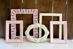FIVE ORNATE Vintage Upcycled Frames  Hand Painted by LoveliesShop, $48.00