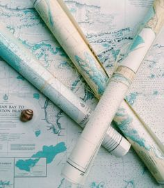 Nautical Chart Prints.... to use any way you want: http://www.completely-coastal.com/2016/01/nautical-chart-decor.html | Frame them, decoupage them onto a surface (table for example), or paste to the wall as DIY Wall Paper!