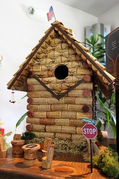 Wine birdhouse by theqspeaks, via Flickr