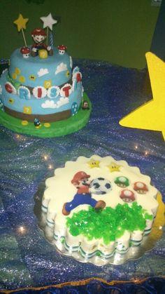 Mario bross gela and cake