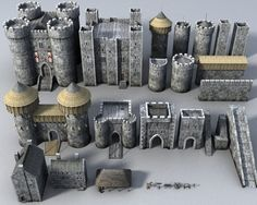 www.turbosquid.com - castle bits
