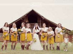 Yellow Bridesmaids Dresses | Simply Bloom Photography
