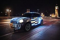 - As part of its 'Not Normal' campaign, MINI took art to the streets with a car playing video while it drives. Mini Lifestyle, Riders On The Storm, Art Beat, Mini Countryman, Mini One, Mini Cooper S, London Street, Car Wrap, Ad Design