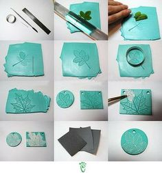 Pressed leaves, punched & painted / white paint. No inst, pic only, but the site does have lots of pics of interesting projects...