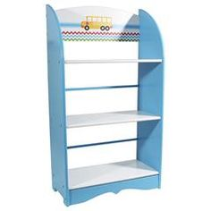 WOODEN BOOK SHELF IN LIGHT BLUE COLOR 50X24X92